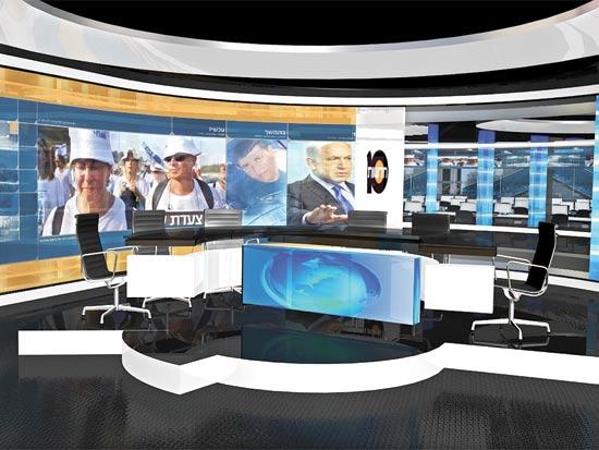 חדשות 2 Image: ערוץ 10 משיק אולפן חדשות חדש בהשקעה של 5 מיליון שקל