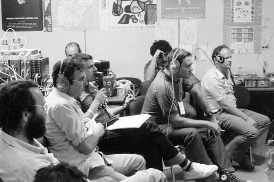 גדעון הוד, רמי יצהר, דני דבורין 1982 / צלם: יואש אלרואי, הארכיון הפרטי - כל הזכויות שמורות