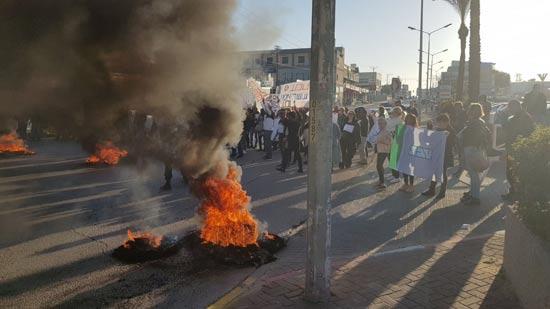 הפגנת עובדי טבע אשדוד / צילום: דוברות ההסתדרות