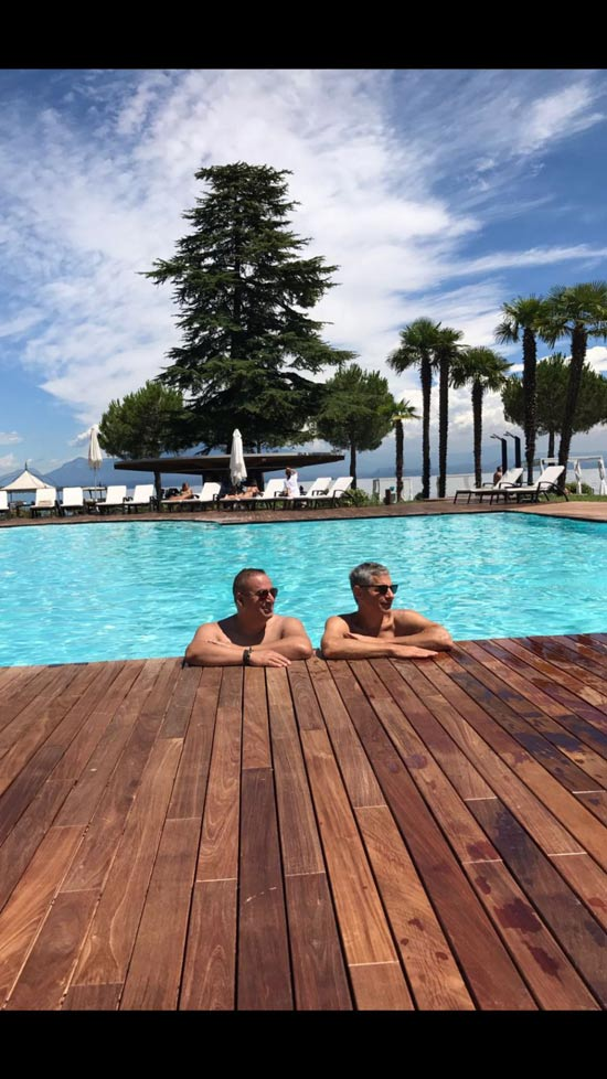 יונתן חי ויניב כהן באגם קומו באיטליה/ צילום: פרטי