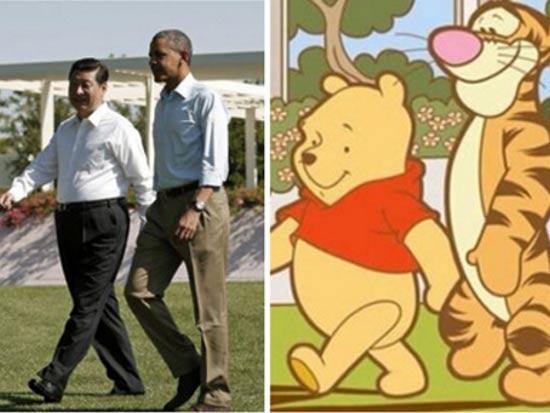 נשיא סין ופו הדוב / צילום מסך מאתר Mako