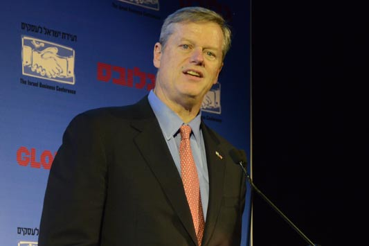 Hon. Charlie Baker-Governor of Massachusetts / צילום: איל יצהר
