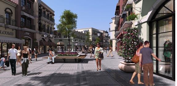 העיר החדשה ראש העין אזור בילוי ומסחר / קרדיט : ויו פוינט