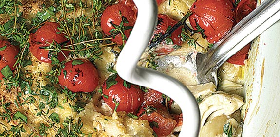 """קראמבל שומר ועגבניות / צילום: מתוך הספר """"ספר המתכונים"""" - """"יותם אוטולונגי וסמי תמימי"""""""