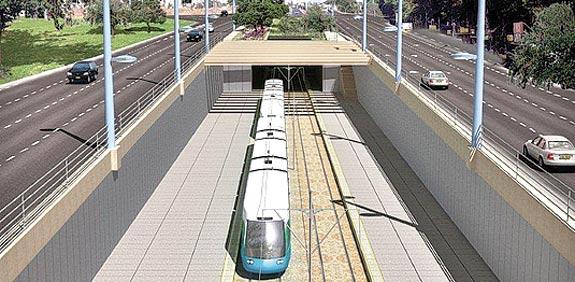 הרכבת הקלה בתל אביב / צילום הדמיה: יחצ