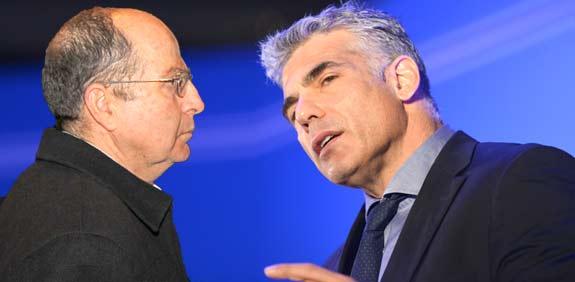 Yair Lapid and Moshe Ya'alon