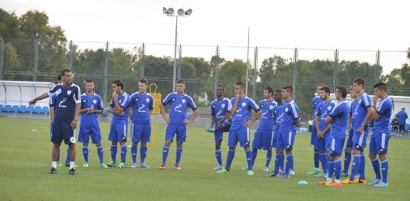 הנבחרת הצעירה של ישראל מתאמנת לקראת יורו 2013 / צלם: תמר מצפי