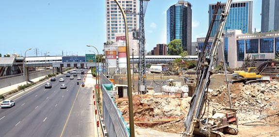 Tel Aviv light rail work