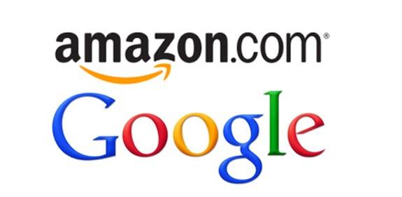 גוגל לוגו אמזון לוגו / צילום: יחצ