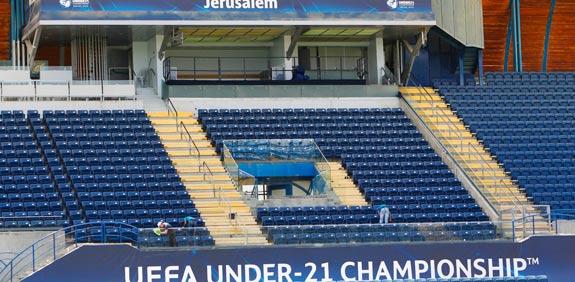 אצטדיון טדי בהכנות לאליפות אירופה עד גיל 21 / צלם: רויטרס