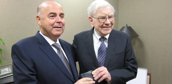Warren Buffett and Eitan Wertheimer