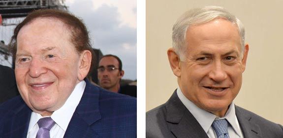 Benjamin Netanyahu, Sheldon Adelson