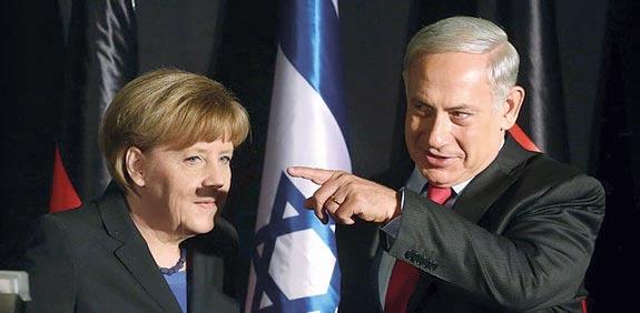 השפם של מרקל / צילום: ישראל סלם/ ג'רוזלם פוסט
