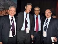 ליאו ליידרמן, ציון קינן, אוליבייר בלנשארד, יאיר סרוסי, ועידת ישראל לעסקים 2012 / צילום: תמר מצפי