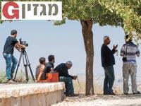 עיתונאים בהר אביטל / צילום: רפי קוץ