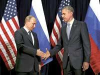 ברק אובמה וולדימיר פוטין/ צילום: יחצ