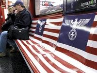 סמלים נאציים ברכבת התחתית בניו יורק / צילום: רויטרס