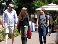 מארק צוקרברג, לורה ומארק אנדרסן / צילום: רויטרס