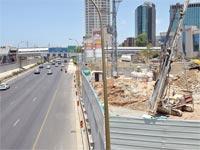 העבודות להקמת הרכבת הקלה בתל אביב /צילום: תמר מצפי