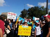 הפגנת עובדי רשות השידור / צילום: יחצ - מאיר סויסה