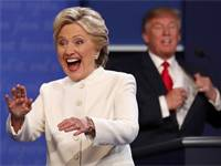 הילארי קלינטון ודונלד טראמפ, העימות השלישי (צילום: רויטרס)