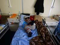 ילד סורי בבית חולים  / צילום:רויטרס