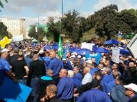 הפגנת עובדי אגד / צילום: יחצ