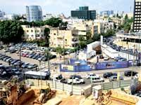 העבודות על הקמת הרכבת הקלה בתל אביב / צילום: תמר מצפי