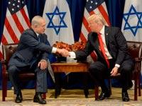 ראש הממשלה בנימין נתניהו בפגישתו עם נשיא ארה``ב דונלד טראמפ בניו יורק / צילום: אבי אוחיון לעמ