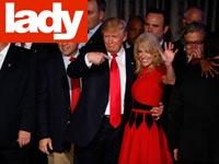 קליאן קונווי עם דונאלד טראמפ / צילום: בלומברג