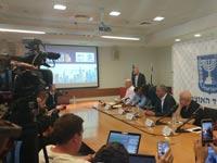 מסיבת עיתונאים משה כחלון/ צילום:גלובס טי וי