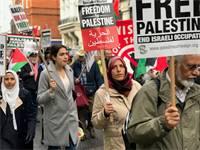 הפגנה של הארגונים הפלסטינים בלונדון / צילום: טל שניידר