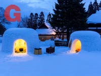 קמאקורה פסטיבל השלג ביפן שבמהלכו בונים בתי שלג קטנים ומוארים בנרות / צילום:  Shutterstock | א.ס.א.פ