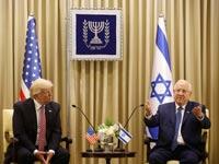 הנשיא דונאלד טראמפ במשכן הנשיא ריבלין / צילום : אוליביה פיטוסי