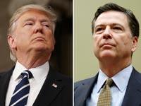 ג'יימס קומי ודונלד טראמפ / צילום: רויטרס