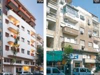 הבניין ברחוב הרצל בתל אביב  /צילום לפני: אדריכל דורון מינין צילום אחרי: אייל תגר