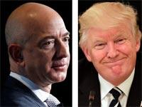 דונלד טראמפ וג'ף בזוס / צילומים: רויטרס