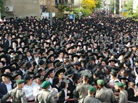 הלוויה של  הרב שטיינמן / צילום: שלומי גבאי, וואלה!NEWS