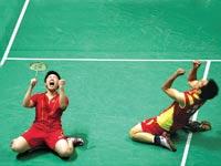 הזוכים הסינים באליפות בבדמינטון / צילום: רויטרס
