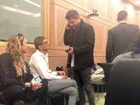 נדב שיננברגר  והלוביסט  משה ביבי / צילום: שי ניב