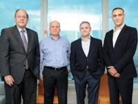 מימין לשמאל: עומר קרייזלר, לן רוזן, גיא פרמינגר ואהוד שפירא / צילום: איל יצהר