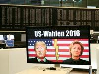 בורסת פרנקפורט במהלך הבחירות בארצות הברית / צילום: רויטרס