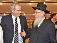 יעקב ליצמן ויורם דבש  / צילום: אלעד גוטמן