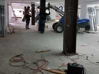 עבודות תיקון  במגדל פסגות גן  של דניה סיבוס ברמת גן / צילום פרטי