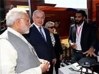 בנימין ושרה נתניהו עם ראש ממשלת הודו נרנדרה מודי / טל שניידר