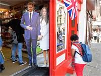 מזכרות לכבוד החתונה המלכותית של הנסיך הארי ומייגן מרקל / צילום: רויטרס