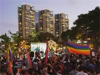 """מחאת הלהט""""בים / צילום: גיא כהן"""