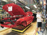 מפעל הרכבה של פורד במישיגן/  צילום: רויטרס Rebecca Cook