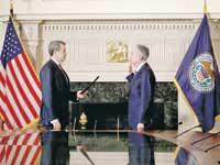 ג'רום פאוול מושבע ליור הפד ריזרב/ צילום רויטרס