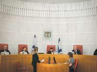 דיון בבית המשפט העליון בנושא מיסוי מס דירה שלישית   / צילום: אייל פישר